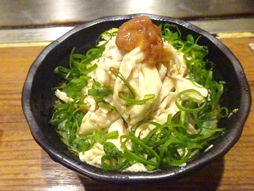 63鶏ササミ梅ポン酢