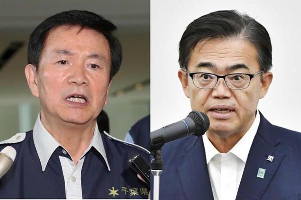 森田知事と大村知事(写真右)