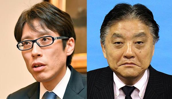 竹田恒泰氏(左)と河村たかし名古屋市長(右)
