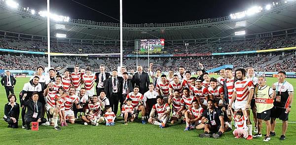 ラグビーW杯でベスト8入りを果たした日本代表チーム