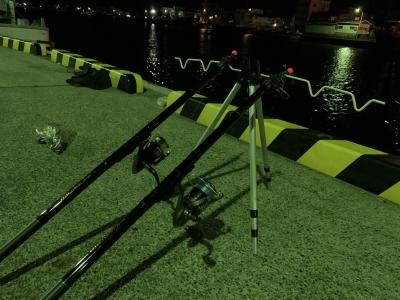 ぶっ込み釣りの投げ竿