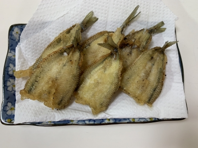 トウゴロウイワシの天ぷら