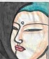 3仏頭興福寺蘇我倉山田石川麻呂の飛鳥山田寺の講堂本尊である薬師如来像の頭部IMG_20191027_0005