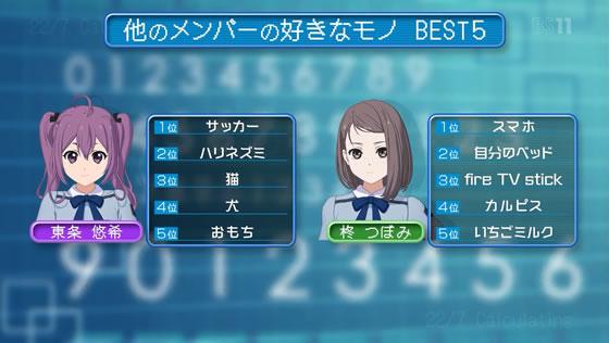 22/7 計算中 第63回 | 東条悠希・柊つぼみ 好きなモノBEST5