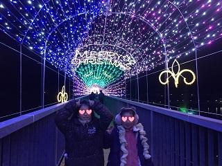 宮ケ瀬イルミネーションつり橋