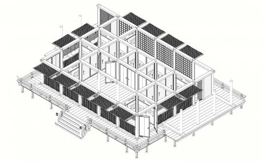 2020-01-20-六波羅泉殿寝殿等角投影図