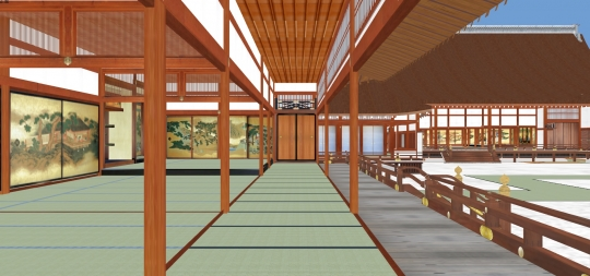 2020-03-17-学問所から御常御殿を見る