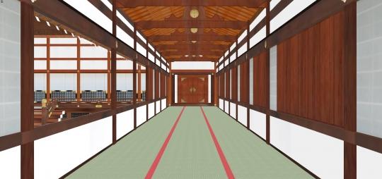 2020-03-17-小御所への渡り廊から西廂を見る