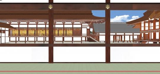 2020-03-17-御拝廊下より紫宸殿北廂を見る-2