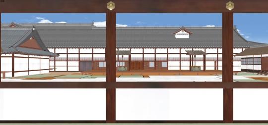 2020-03-17-非蔵人廊下より大台所を見る