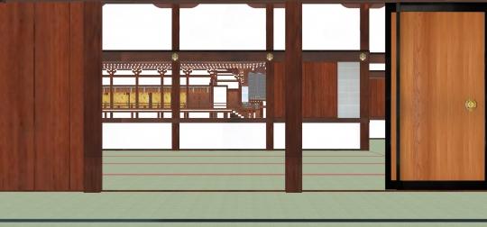 2020-03-17-御拝廊下より紫宸殿北廂を見る