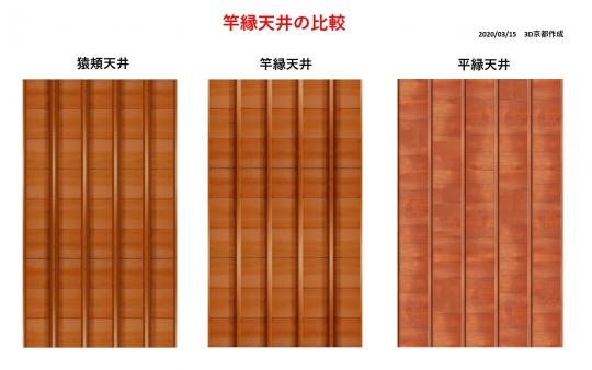 竿縁天井テクスチャ比較図