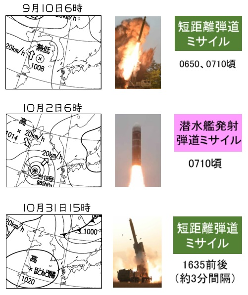 20191109北朝鮮ミサイル