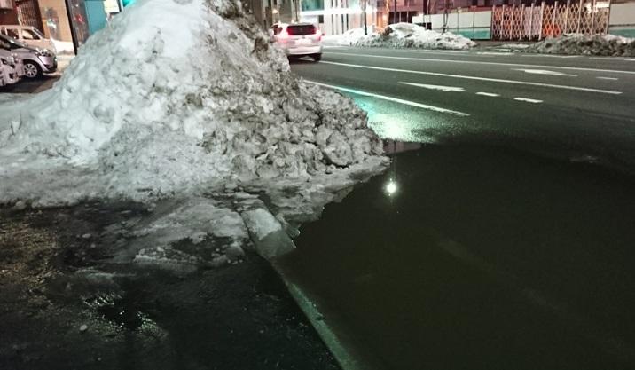 20200308 雪融け水