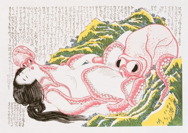 葛飾北斎「海女と蛸」
