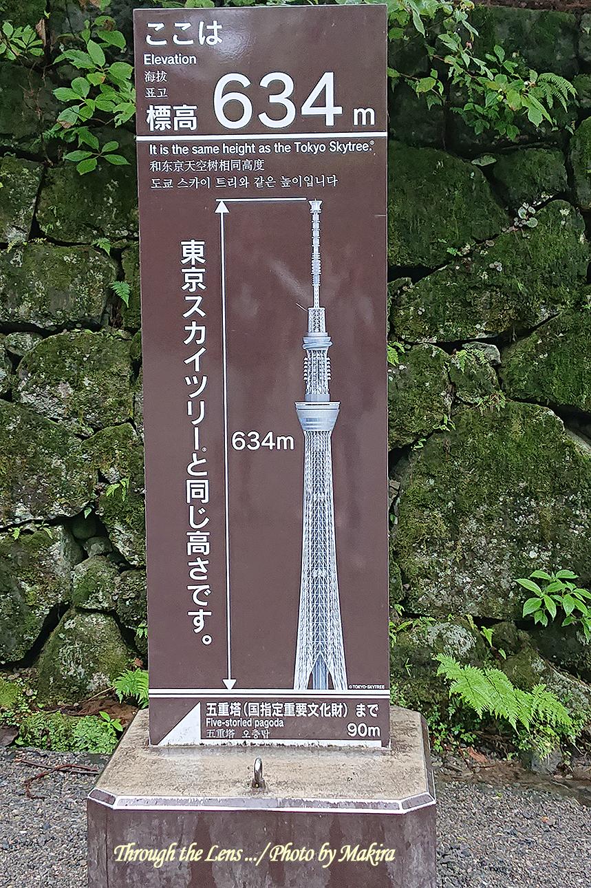 五重塔近くの標高XP1