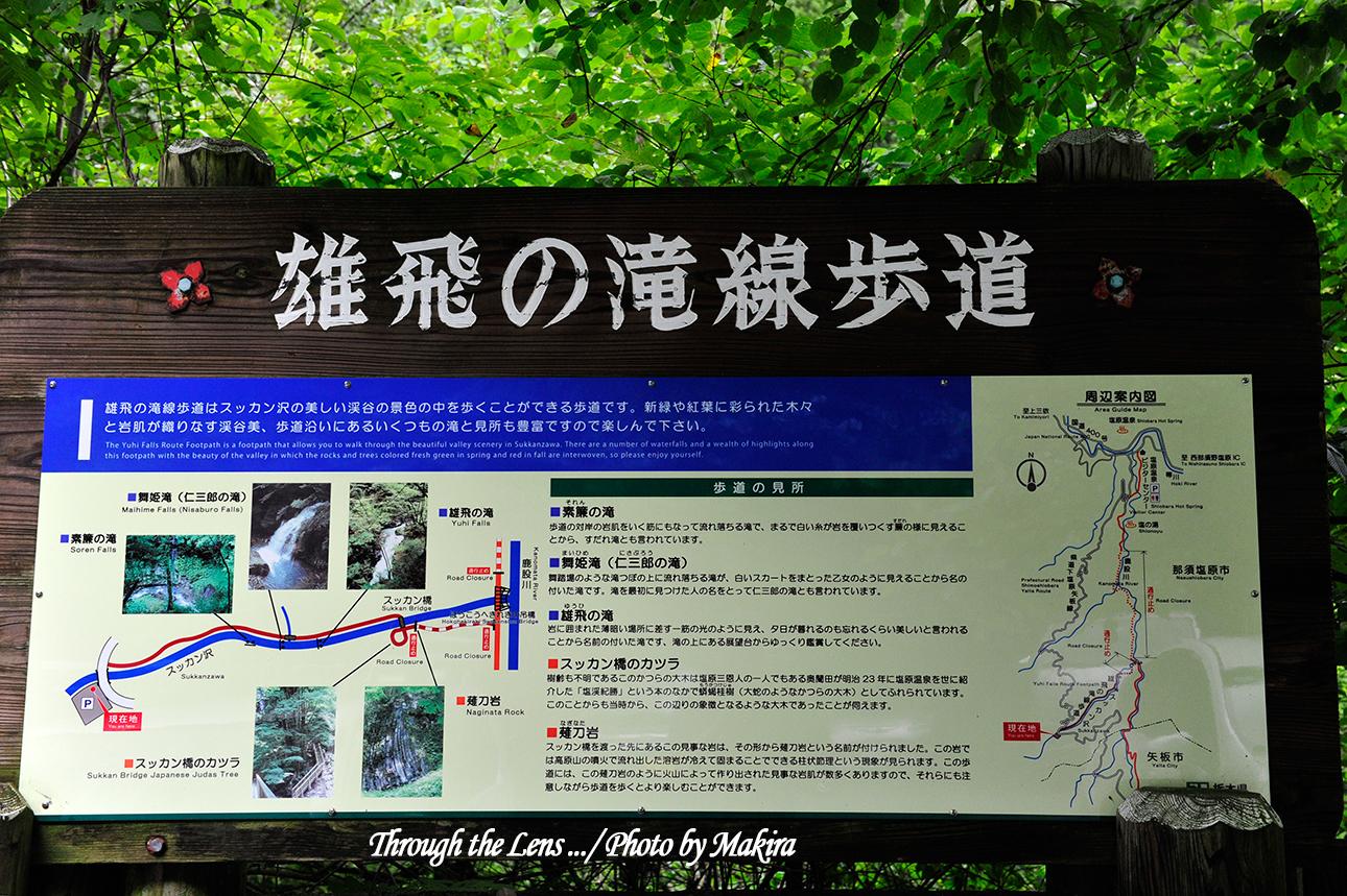 雄飛の滝線歩道表示1