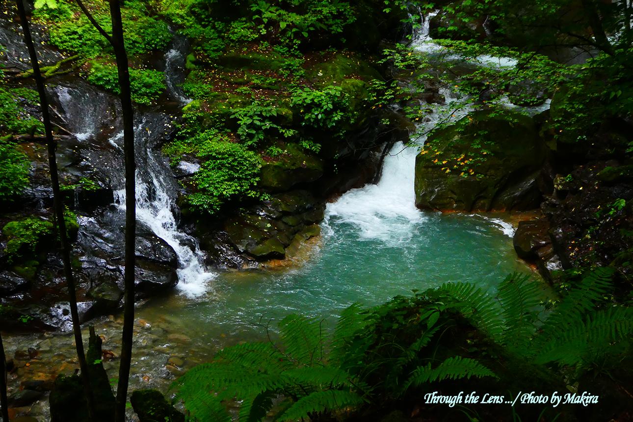 仁三郎の滝付近のスッカンブルーTZ1