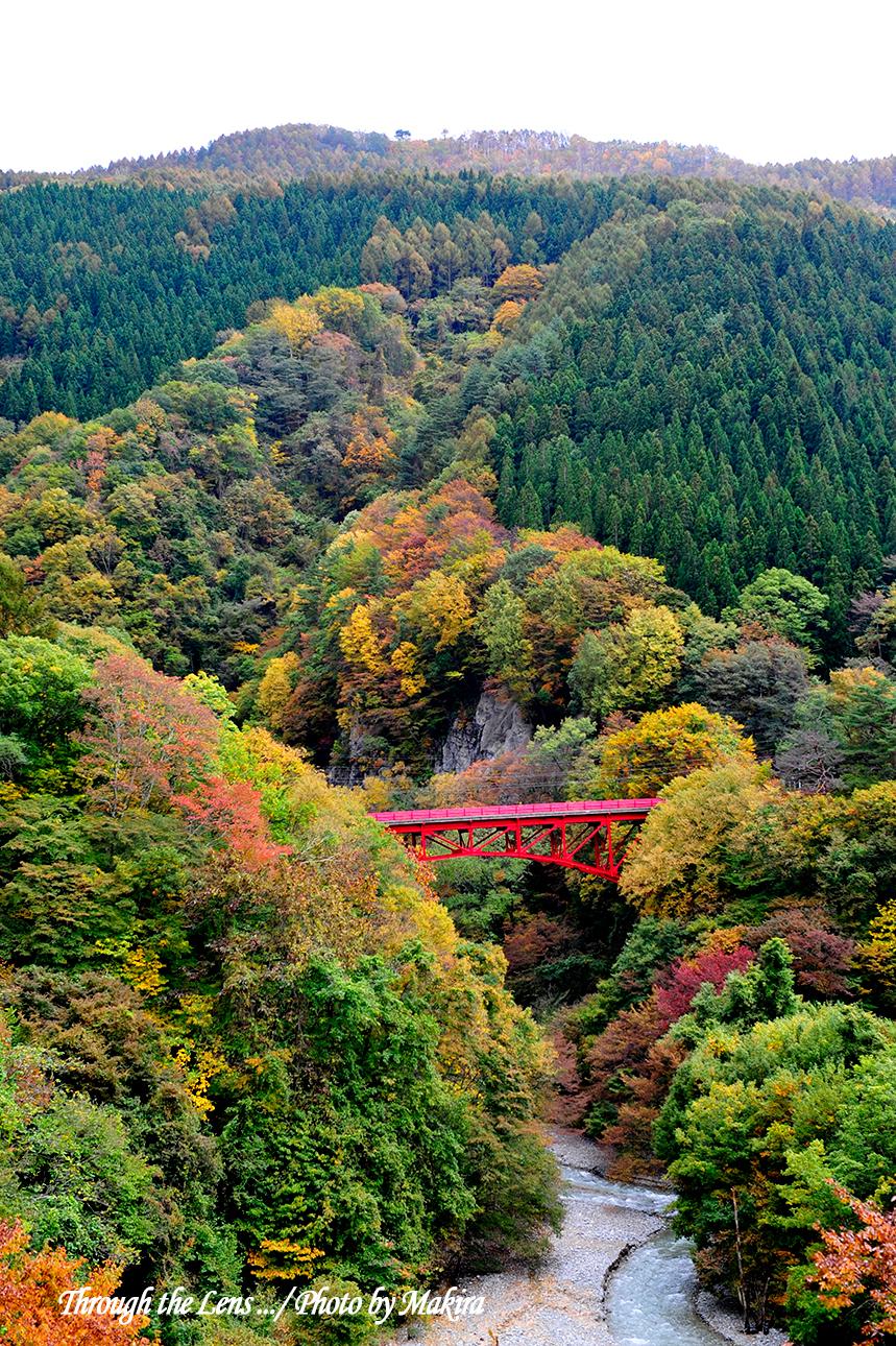 高井橋と松川渓谷1