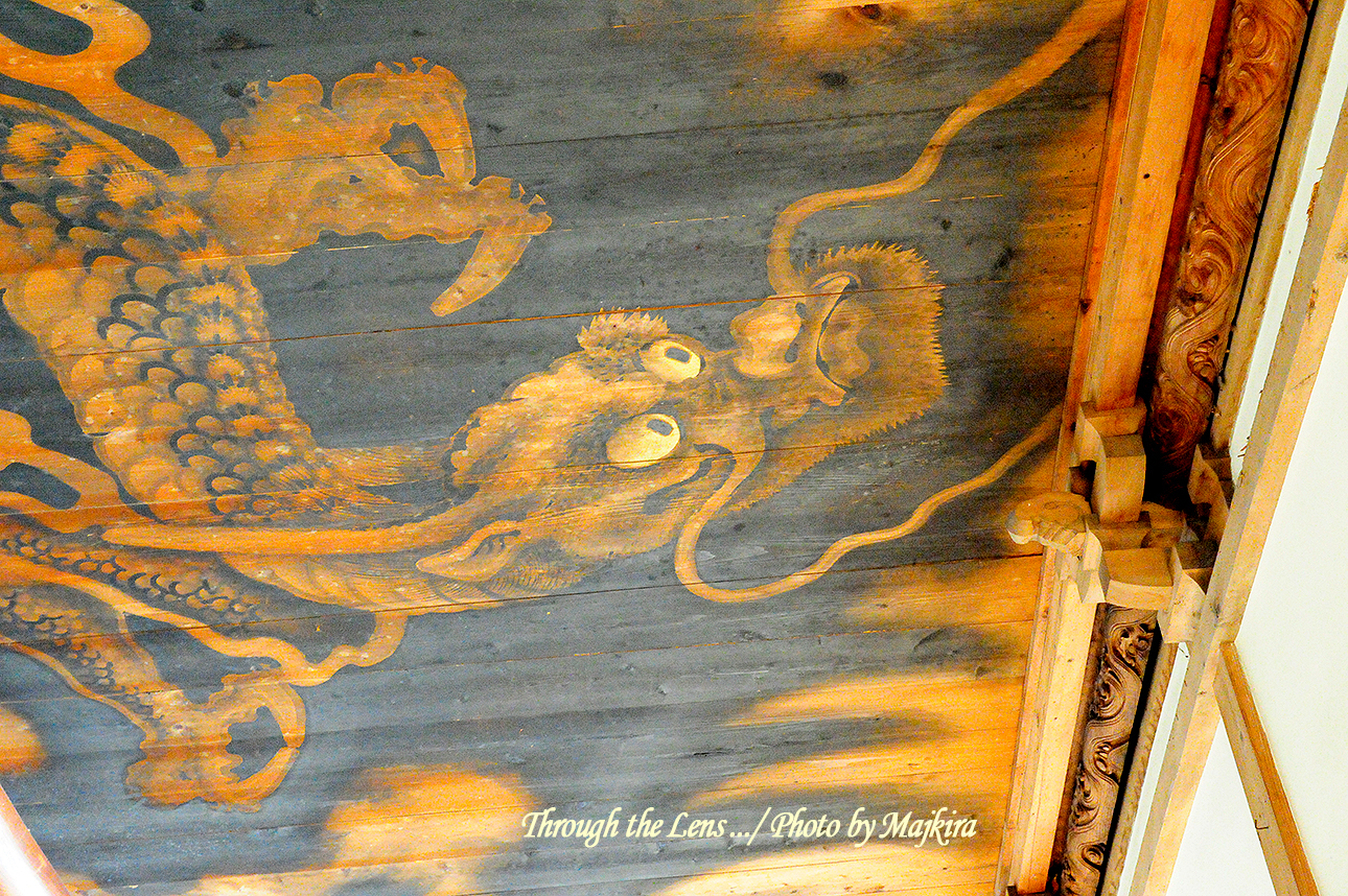 本堂廊下の天井絵1