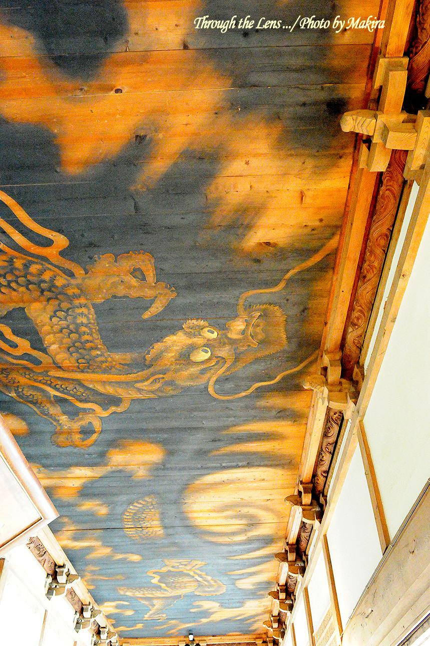 本堂廊下の天井絵2