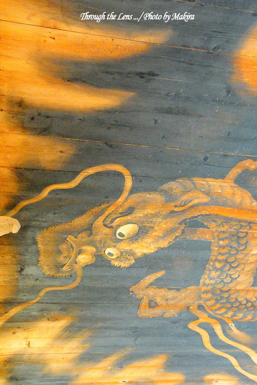 本堂廊下の天井絵3