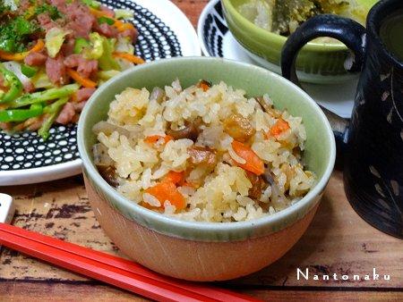 NANTONAKU 10-28 前の日の残りの白菜とお魚_αというソーセージもどきの野菜炒め 2