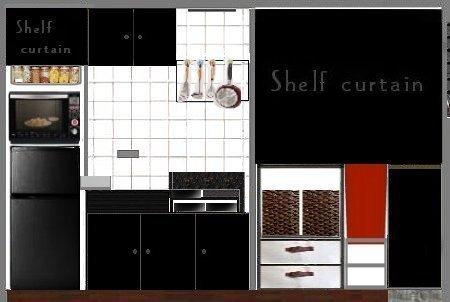 NANTONAKU 11-11 部屋 キッチン 黒冷蔵庫