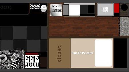 キッチン 構想図  上からの図