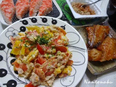 NANTONAKU 12-29  ノンオイルシーチキンでなんちゃってサラダ 赤魚みりん干し 2