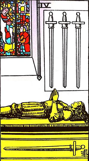 タロットカード『ソード4』 by占いとか魔術とか所蔵画像