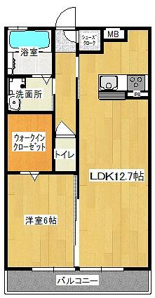 HighAce桜坂203 間取り