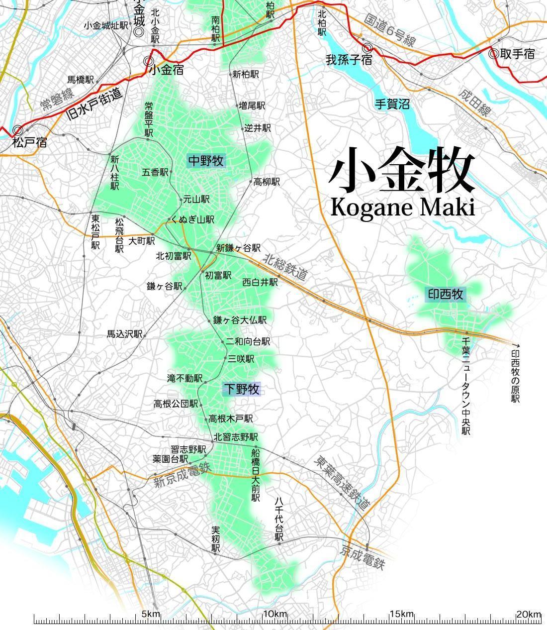 小金牧1 Map-koganemaki