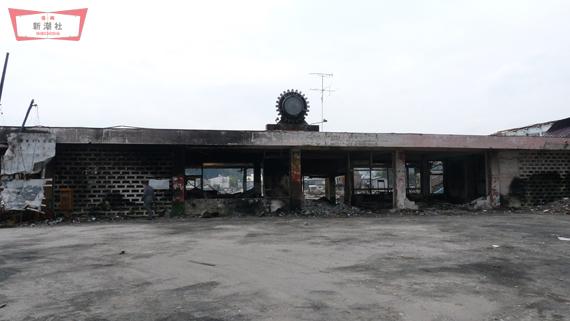 陸中山田駅の正面。