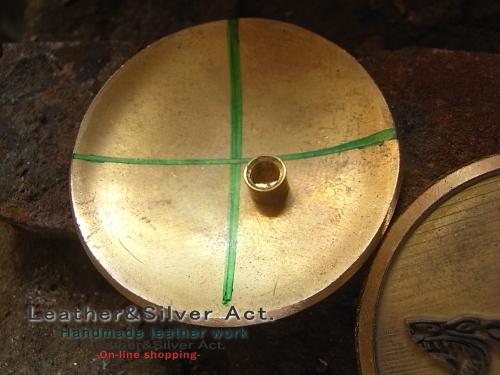 オーダーコンチョ 真鍮 ネジ
