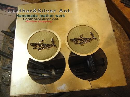 オーダーコンチョ 真鍮 レーザー彫り