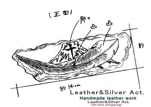 バックル オーダーメイド 富士山 ベルト