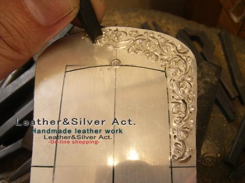 オーダーベルト シルバー925 手彫り
