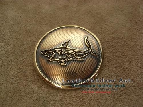 オーダーメイド 真鍮コンチョ サメ
