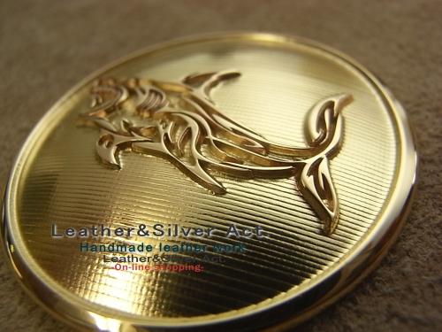 オーダーメイド 真鍮コンチョ レーザー