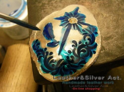 イーグルコンチョ シルバー 手彫り