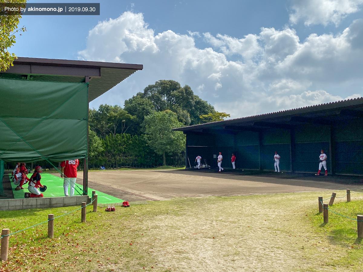 由宇練習場の投球練習場