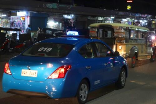 blue taxi