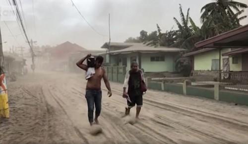 eruption ashes