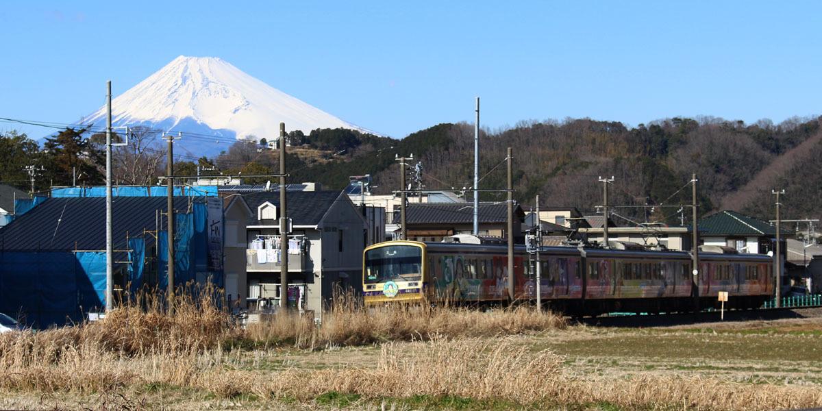 富士山と「Over the Rainbow」号 修善寺-牧之郷 200209
