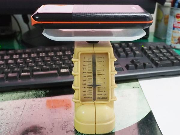 前回のモバイルバッテリー重量計測