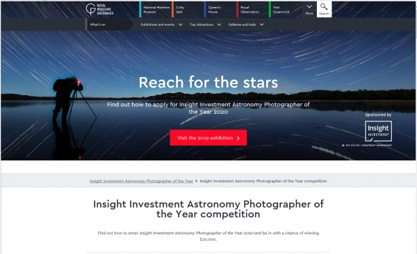 Insight Investment Astronomy Photographer of the Year 2020