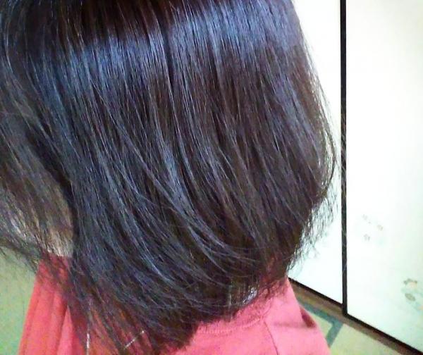 オルナオーガニックヘアウォーター 美容院から2か月の髪につけた様子