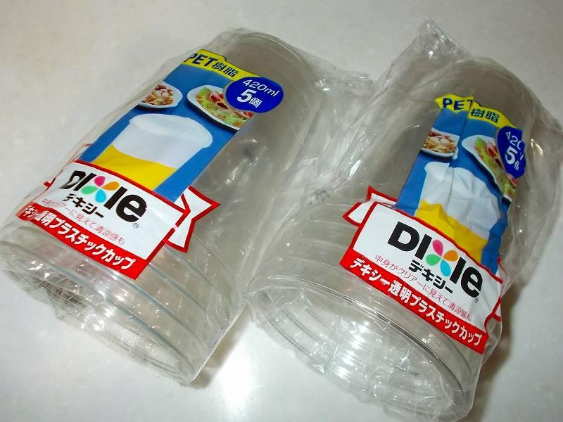 日本デキシー 使い捨て透明プラスチックカップ 420ml 5個入
