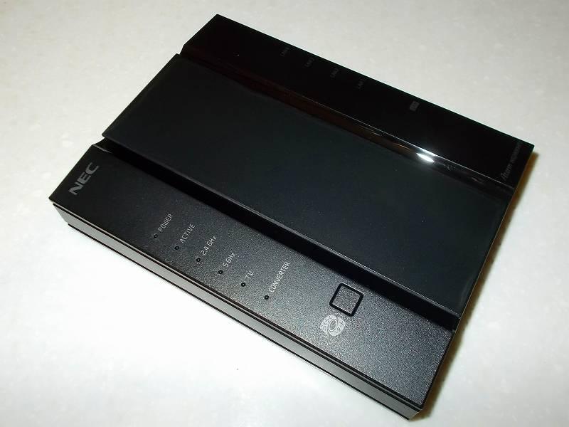 無線 LAN ルーター NEC Aterm WG2600HP3 設定メモ、無線 LAN ルーター NEC Aterm WG2600HP3 本体